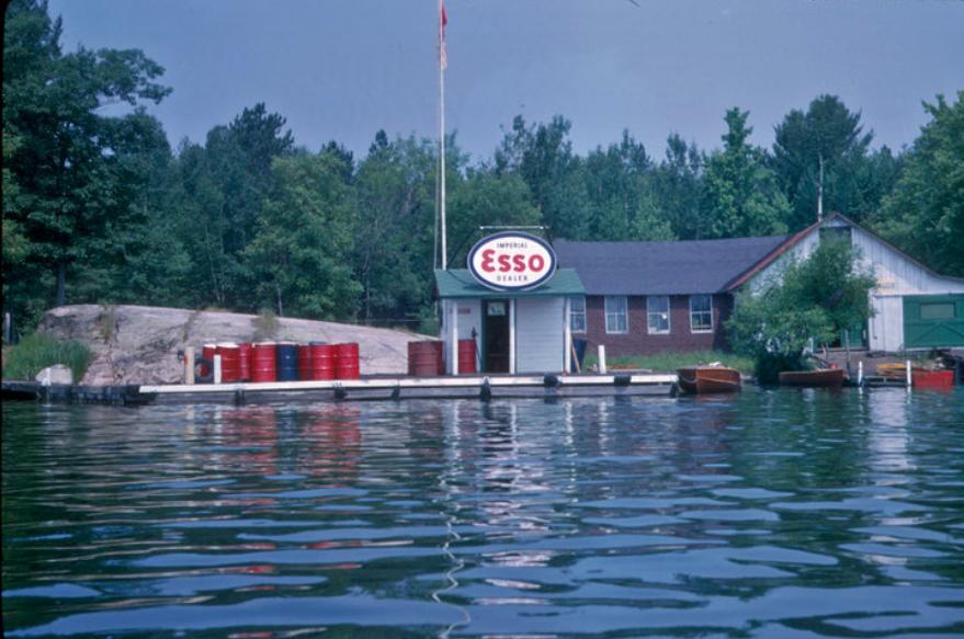 Barn and gas dock