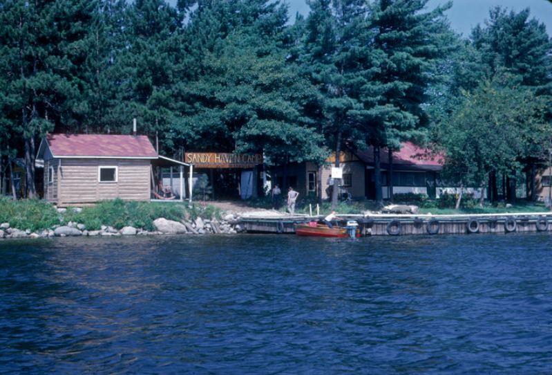 Camp from the water