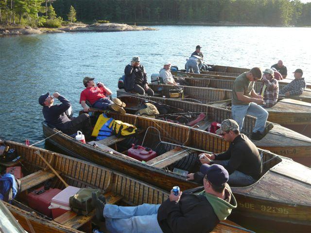 Floating party in cedar strips